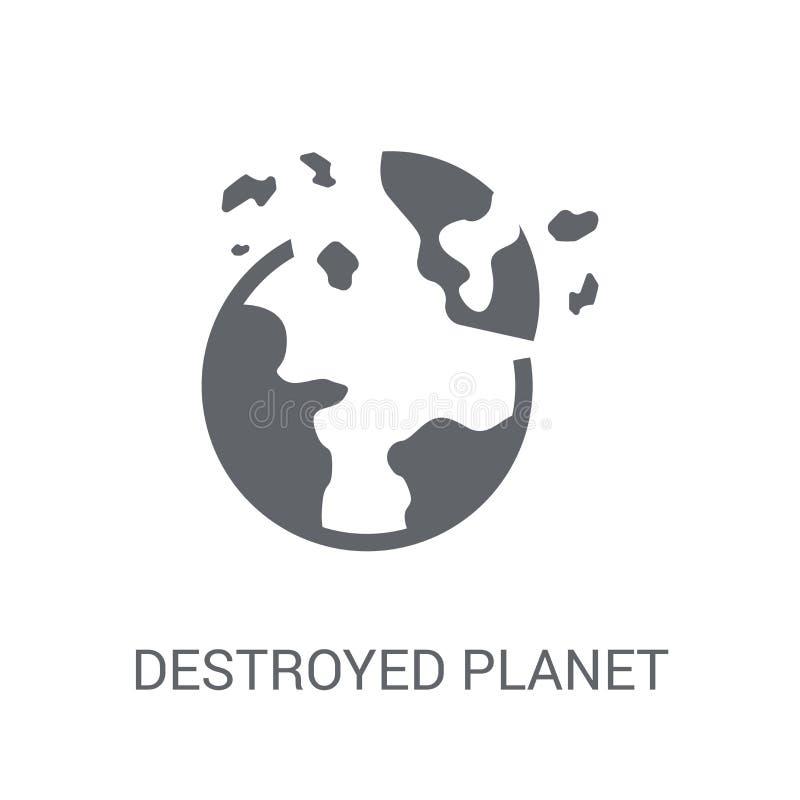 被毁坏的行星象  向量例证