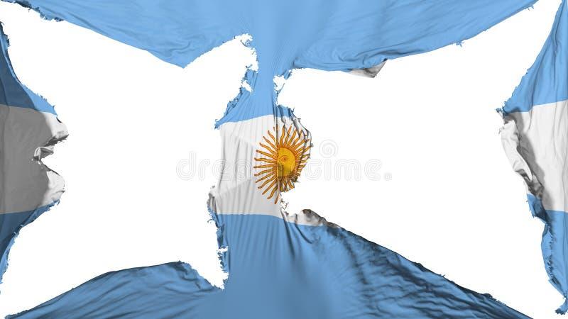 被毁坏的阿根廷旗子 向量例证