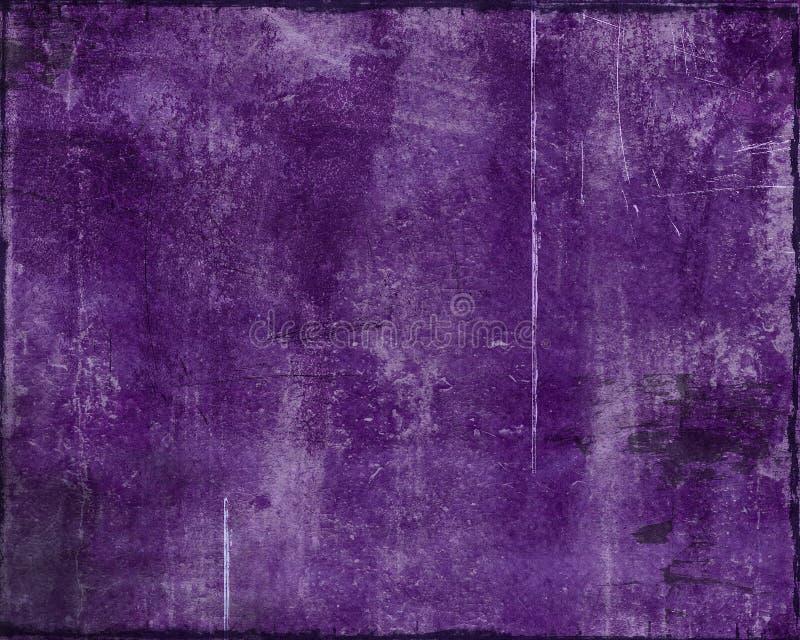 被毁坏的grunge紫色 皇族释放例证