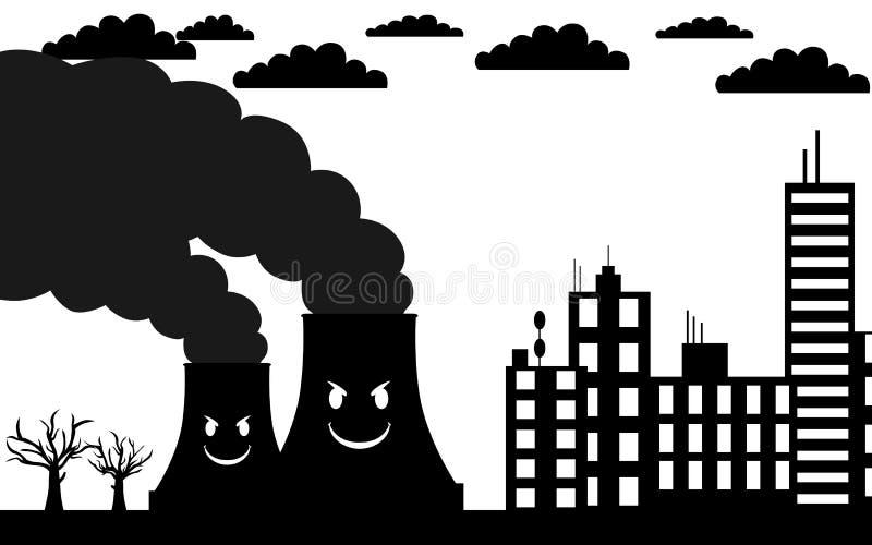 被污染的城市 向量例证