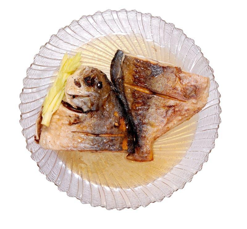 被油炸的黄油鱼 免版税库存照片