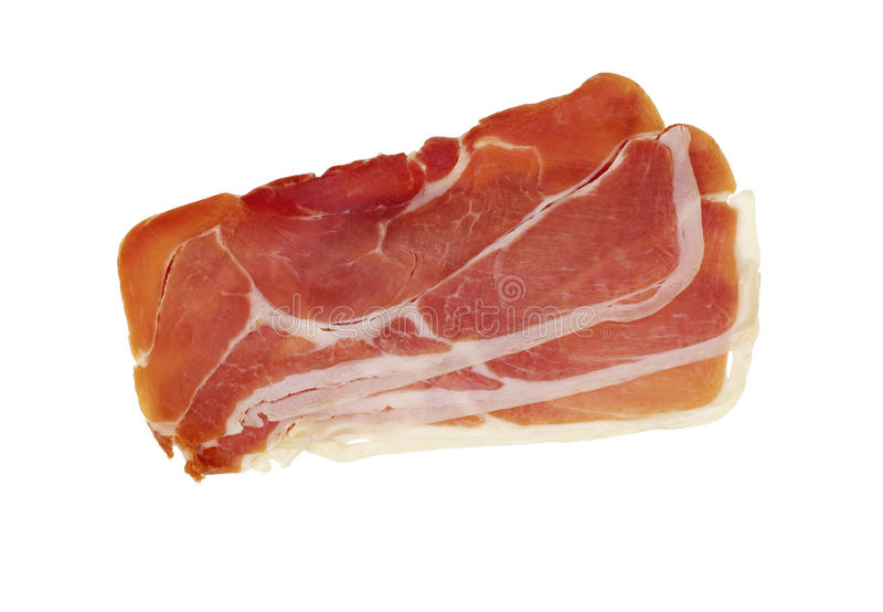 被治疗的干燥火腿jamon serrano 免版税库存照片