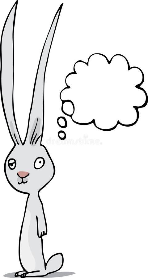 被注视的懒惰兔子 皇族释放例证