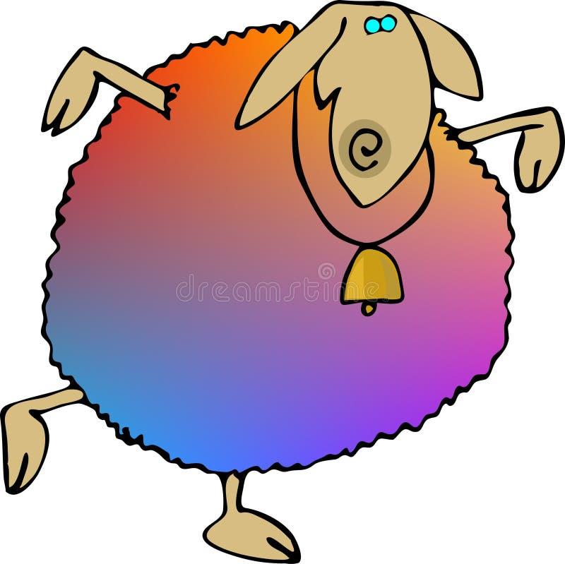 被洗染的羊毛 库存例证