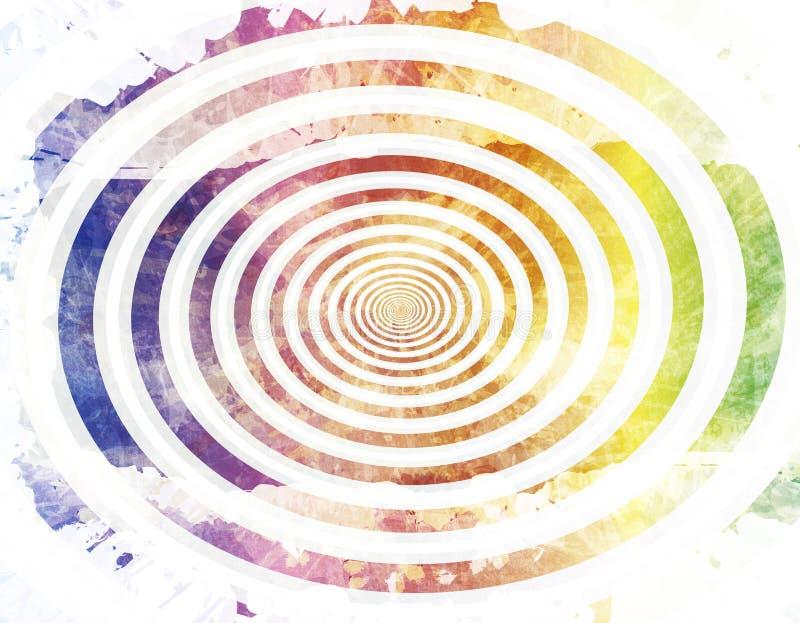 被洗涤的纸螺旋 向量例证