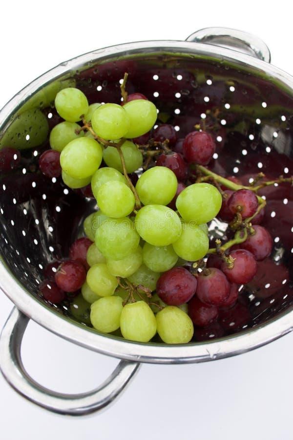 被洗涤的葡萄 免版税库存图片