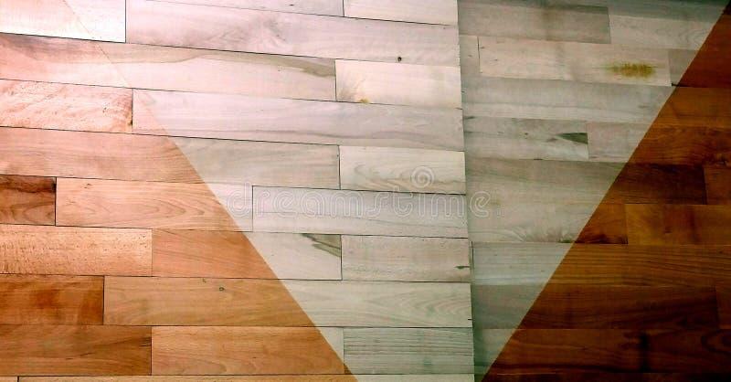 被涂清漆的木条地板区别 免版税库存图片