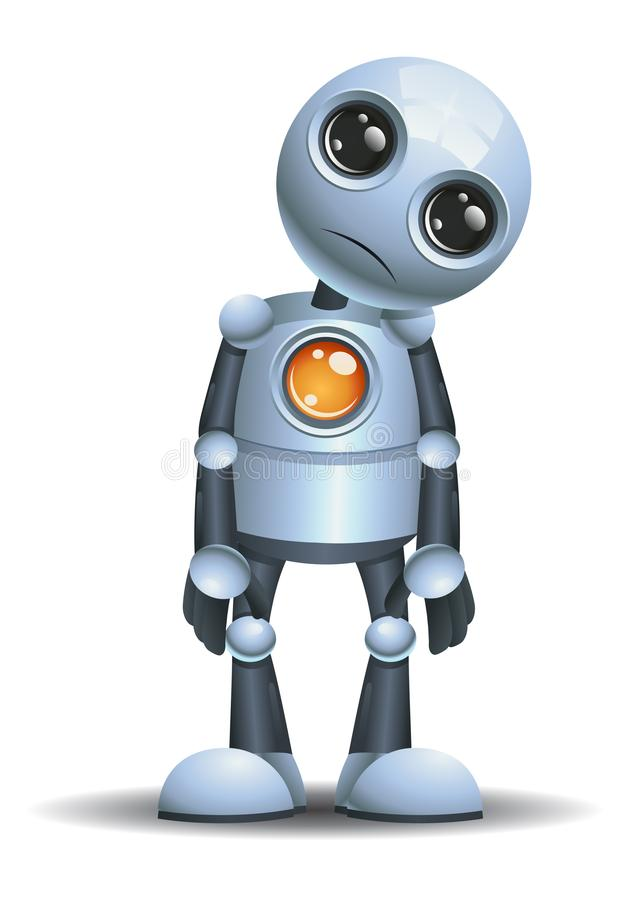 被混淆的小的机器人设法了解 皇族释放例证