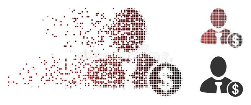 被溶化的映象点半音银行家象 皇族释放例证
