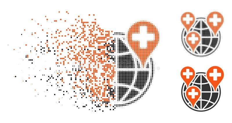被溶化的Dot Halftone Global Clinic Company象 皇族释放例证