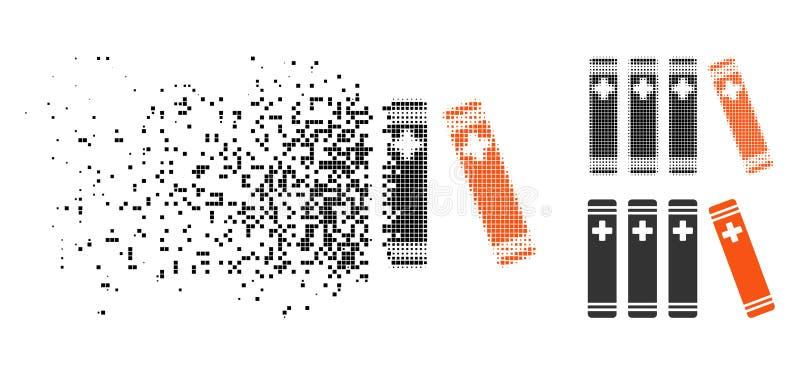 被溶化的Pixelated半音医疗书象 向量例证