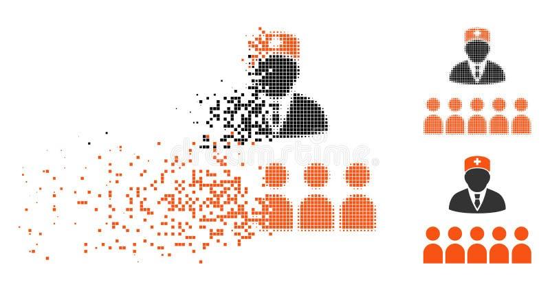 被溶化的Pixelated半音医疗类象 向量例证