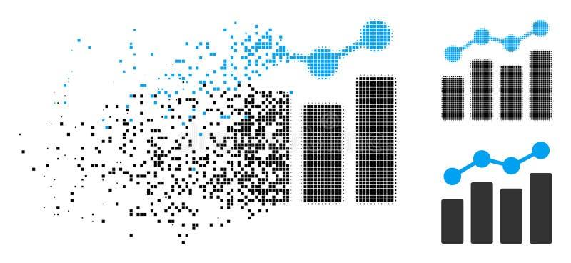 被溶化的Pixelated半音逻辑分析方法象 库存例证