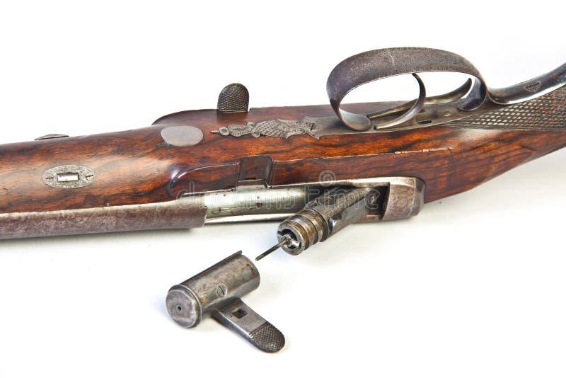 被滚磨的双枪狩猎端 免版税库存照片