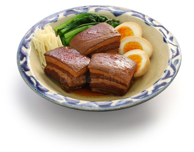 被炖的五花肉,dongpo猪肉 免版税库存图片