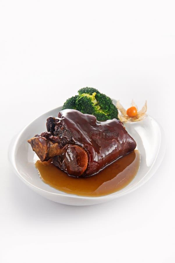 被炖的指关节猪肉 免版税库存图片