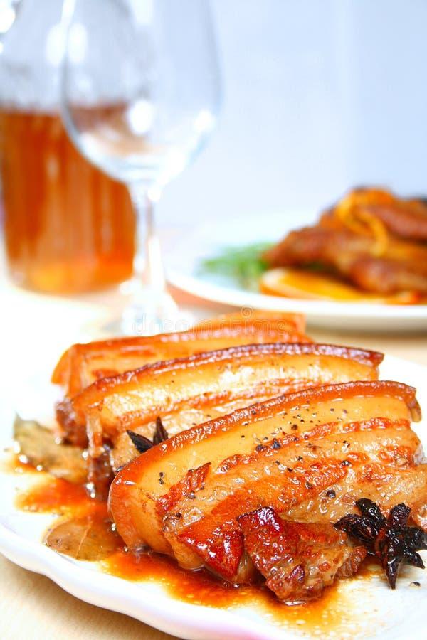 被炖的猪肉 免版税库存图片