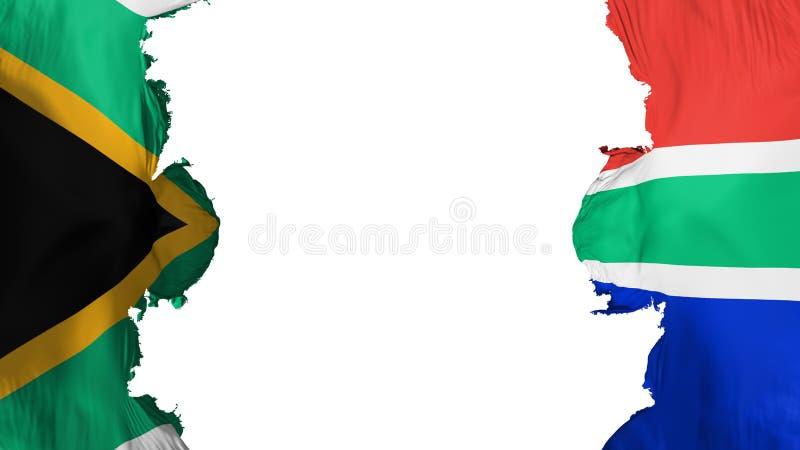 被炸开的南非旗子 库存例证