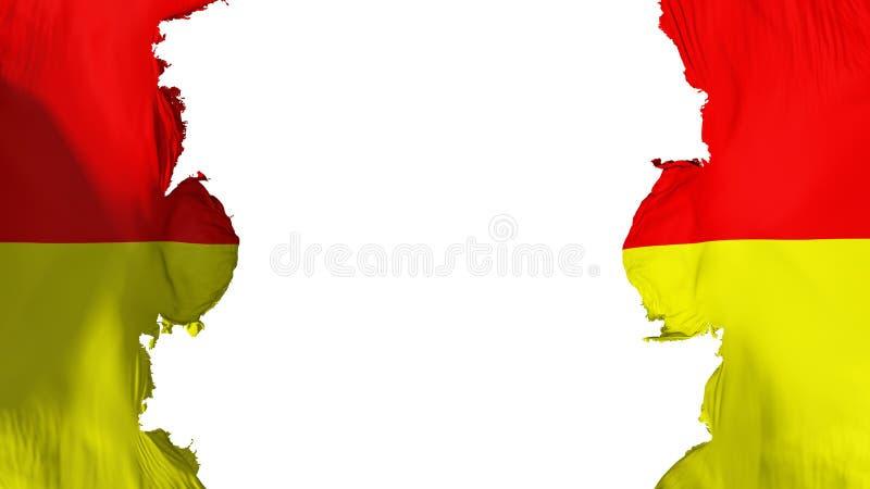 被炸开的比勒陀利亚市旗子 向量例证
