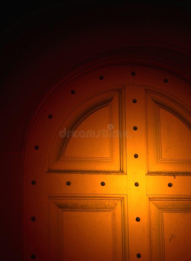 被点燃的门 免版税库存图片