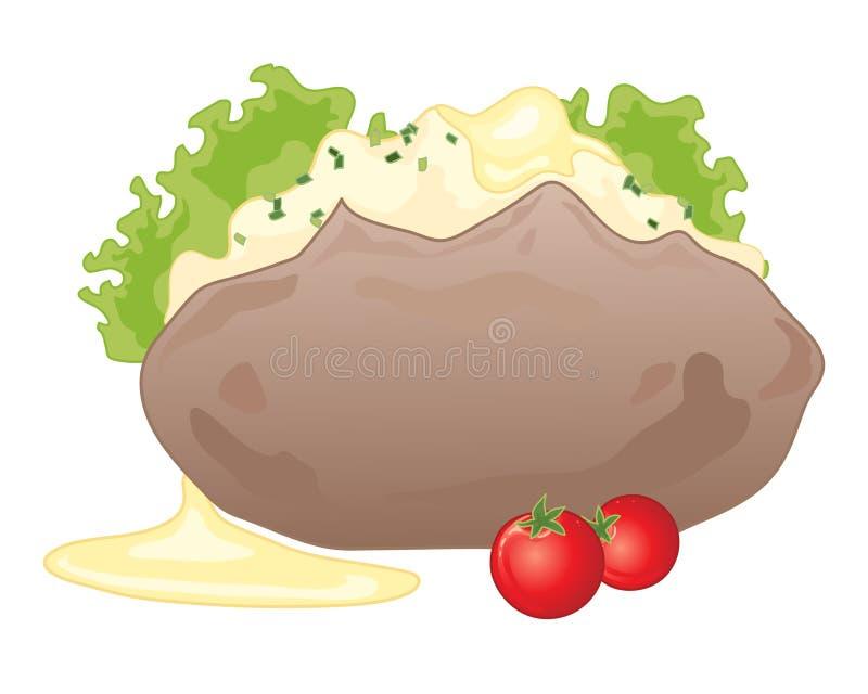 被烘烤的土豆 皇族释放例证