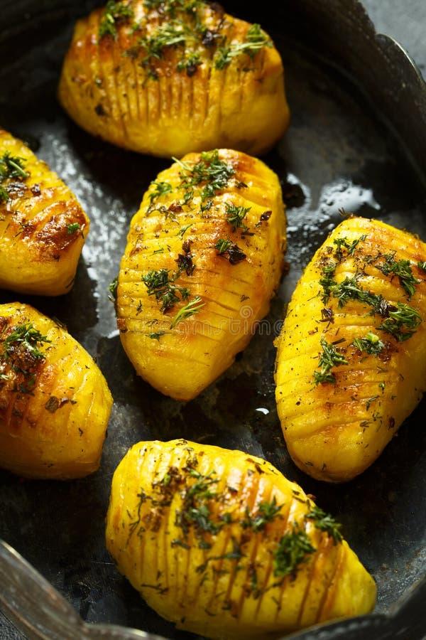 被烘烤的土豆 图库摄影