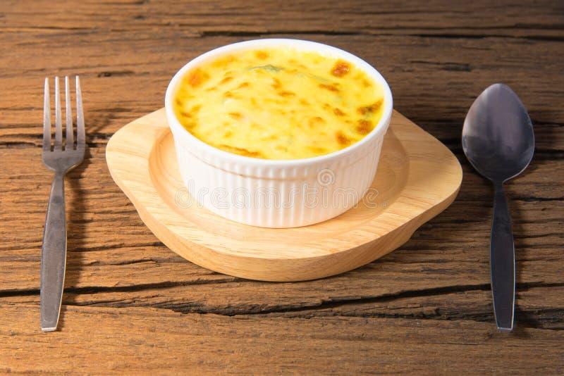 被烘烤的干酪菠菜 库存照片