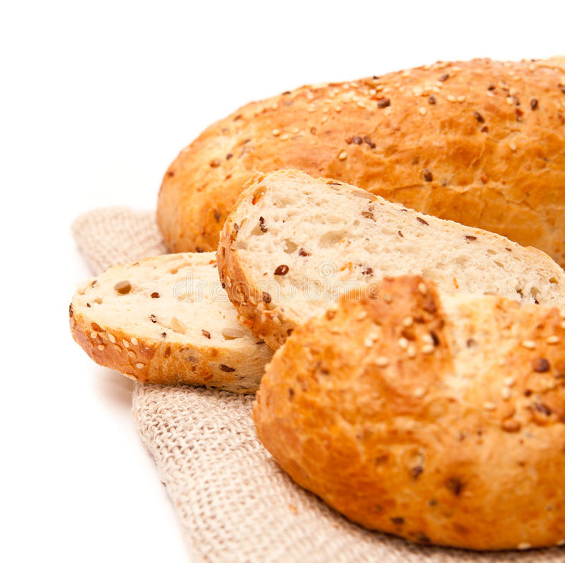被烘烤的新鲜的大面包 库存照片