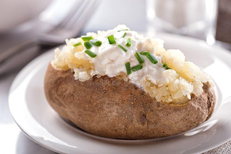 被烘烤的烤箱土豆 图库摄影