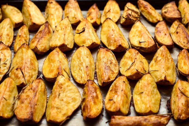 被烘烤的烤箱土豆 免版税图库摄影