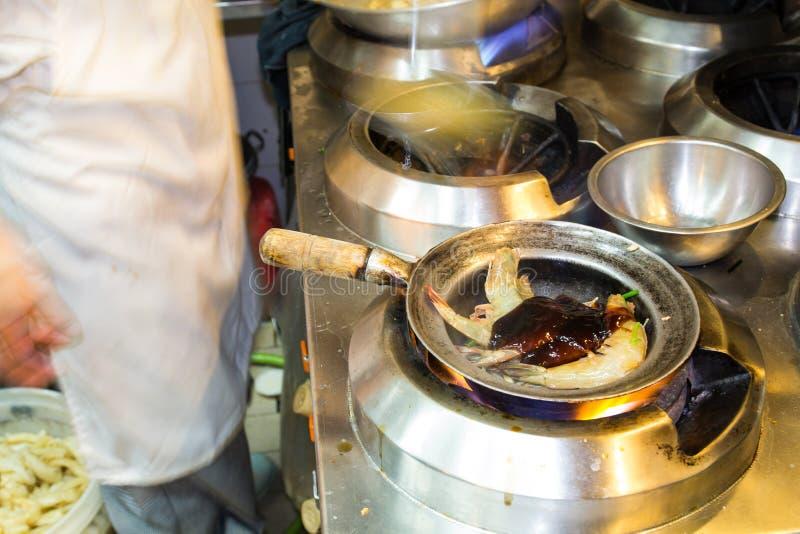 被烘烤的虾 库存照片