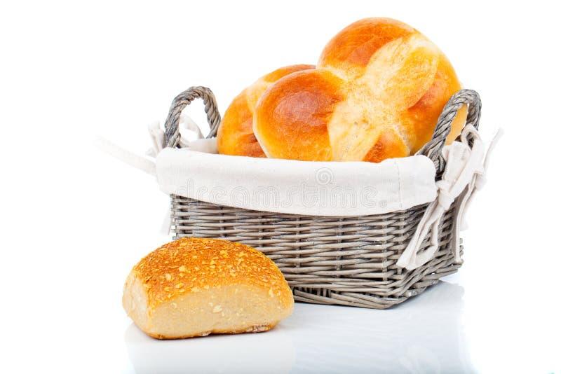 被烘烤的面包小圆面包 免版税图库摄影