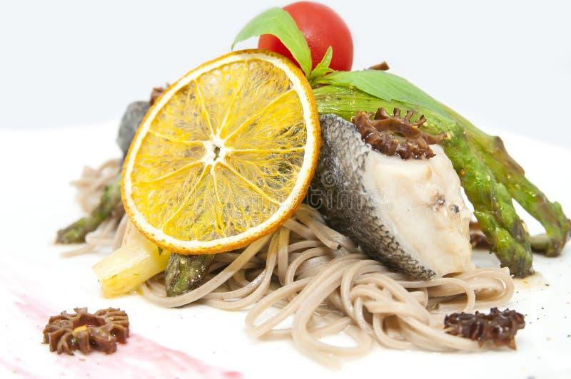被烘烤的鱼片 免版税图库摄影