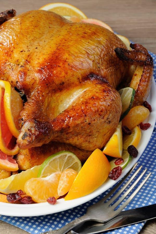 Download 被烘烤的鸡用桔子 库存照片. 图片 包括有 正餐, 设置, brunching, 石灰, 餐巾, 火鸡, 油煎 - 62538088