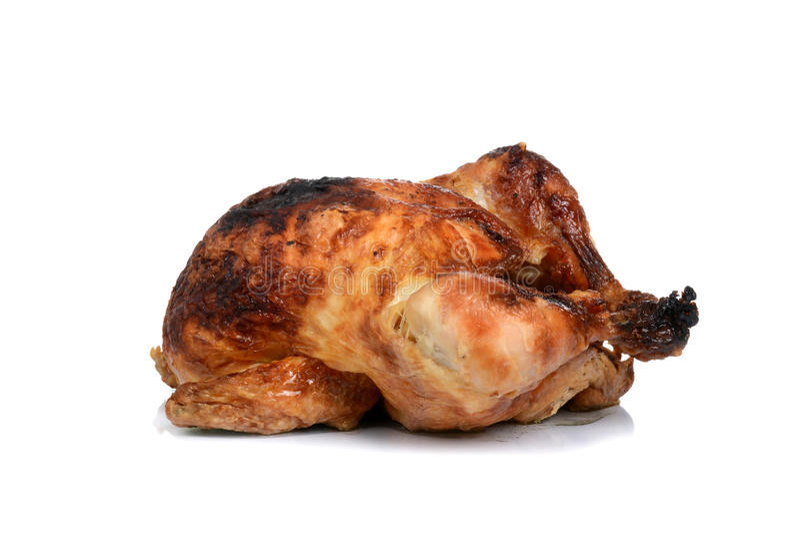 被烘烤的鸡 免版税库存图片