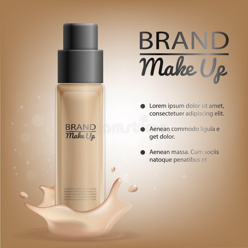 被烙记的化妆用品新产品管传染媒介大模型 皇族释放例证