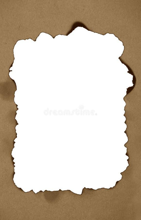 被烧焦的框架纸张 免版税图库摄影