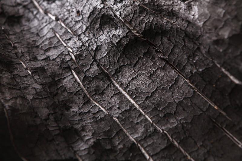 被烧的木黑背景 库存图片