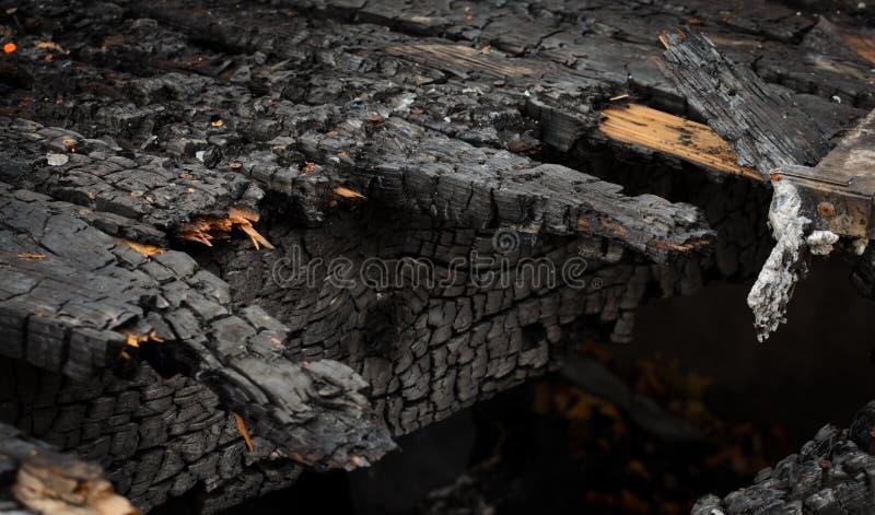 被烧的甲板 免版税库存图片