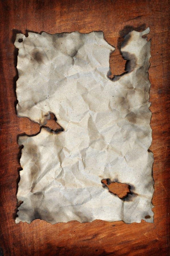 被烧的纸张 库存例证