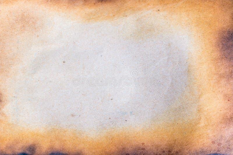 被烧的纸张 库存图片