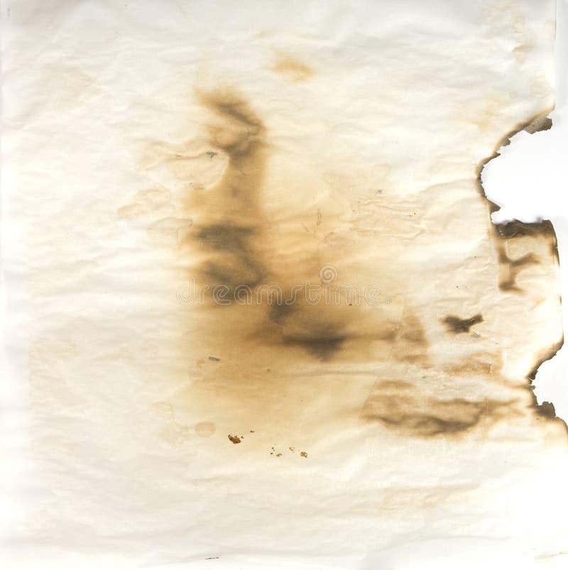 被烧的纸羊皮纸 图库摄影