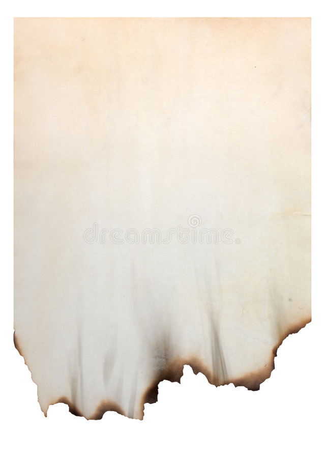 被烧的边缘纸张 图库摄影