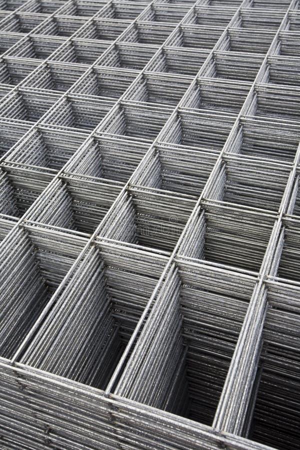 被焊接的网格钢 图库摄影