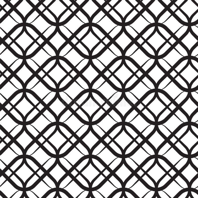 被环绕的方形的栅格 典雅的现代无缝的传染媒介样式 免版税库存照片