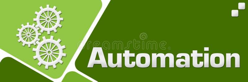 被环绕的自动化绿色摆正水平 皇族释放例证