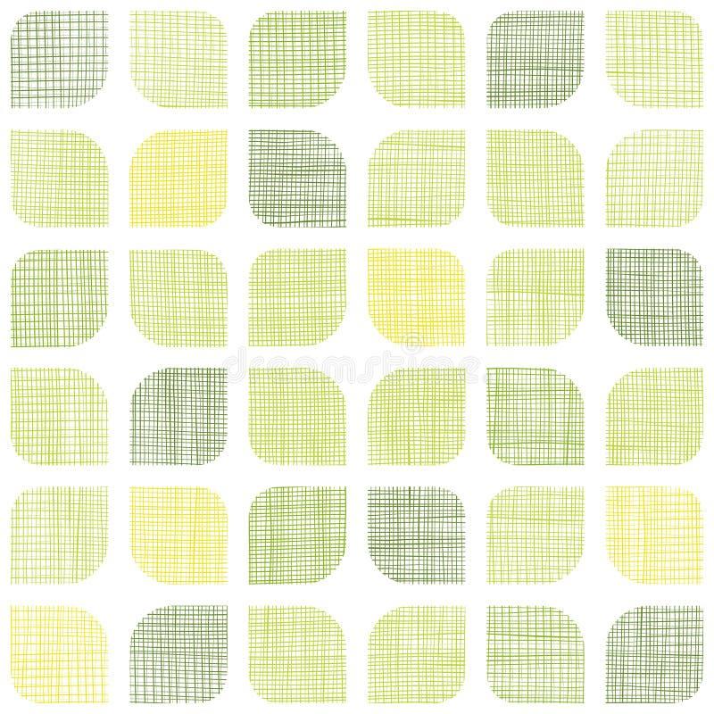 被环绕的抽象纺织品绿色摆正无缝 库存例证