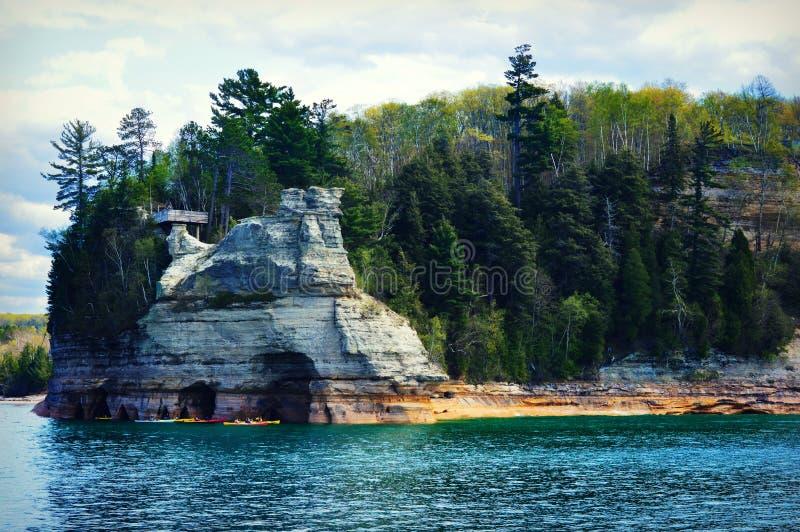 被生动描述的岩石 免版税库存图片