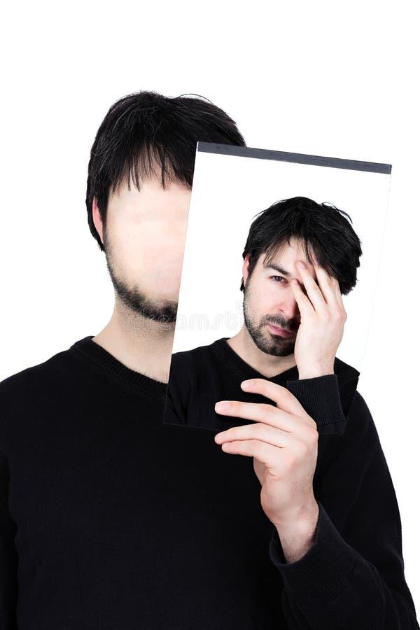 被用尽的两张面孔 库存照片