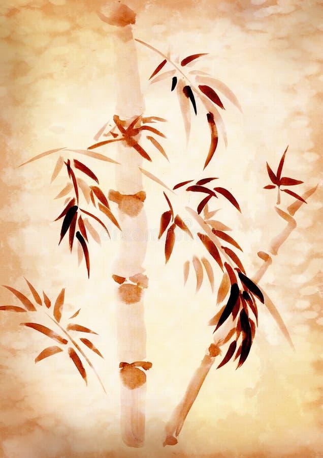 被画的竹子 皇族释放例证